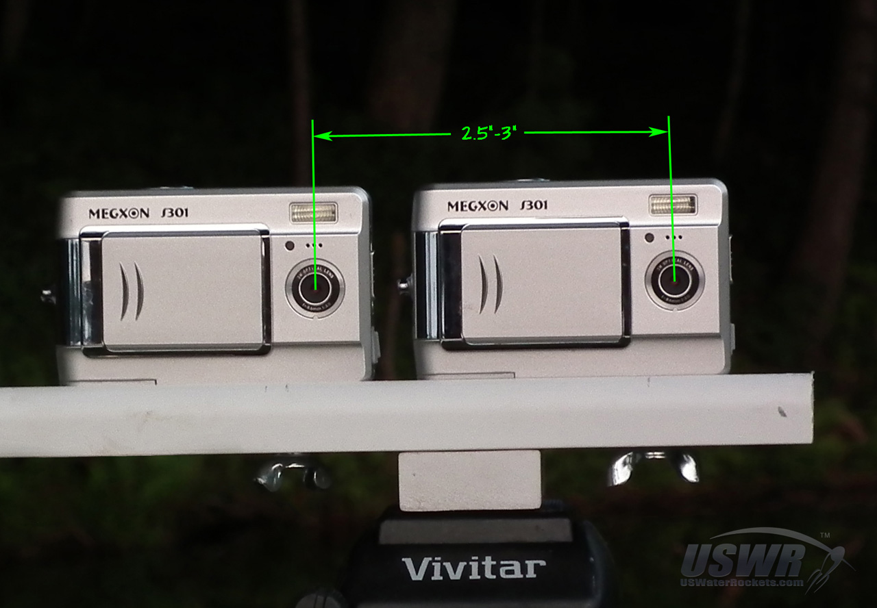 You must find two identical cameras that can be placed 2.5in to 3.0in apart